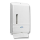 Kleenex Slimfold Towel Dispenser White. Holds up to 225 towels. Dimensions: 8.86