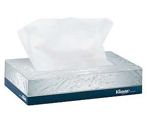 Kleenex Junior Facial Tissue 2 Ply 84 X 58 White Flat Box 40