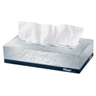 "Kleenex White 2 ply Facial Tissues 9"" x 8"", Flat Box of 100 Tissues. #21400"