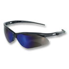 Nemesis Safety Eyewear Safety Eyewear - Blue Mirror lens, Black frame. Patented