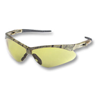 Nemesis Safety Eyewear Safety Eyewear - Amber AF lens, Camo frame. Patented