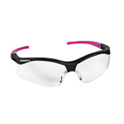 Nemesis Safety Eyewear Safety Eyewear, Small - Clear Anti-Fog Lens with Black