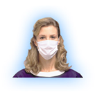 SoSoft Procedure Mask - Anti-Fog, Pleat-Style with Earloops, White, 3-Layer