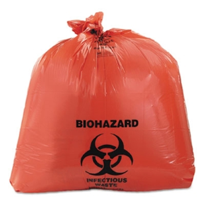 Plasdent Biohazard Can Liner Red 10 Gallon, 250/Pk