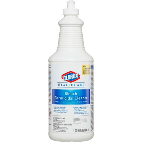 Clorox Bleach Germicidal Cleaner 32 Oz Pull Top Bottle 6cs 110