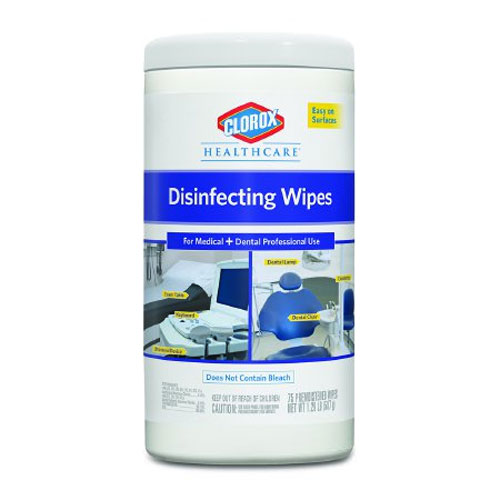 "Clorox Disinfectant Wipes, 7"" x 8"", 75/Can- 6/cs."