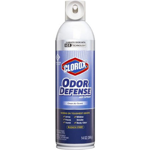 Clorox Odor Defense aerosol spray 14 oz, Case of