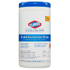 "Clorox Germicidal Wipes with Bleach, 6.75"" x 9"", 70/Can- 6/cs. Contains 0.55%"