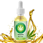 Isolate MCT Oil All natural and organic, 30 ml Bottle with 500 mg CBD. Used