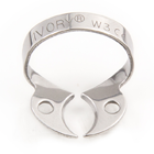 Ivory Clamps #W3 Wingless Flat Jawed for Small Molars Metal Rubber Dam Clamp, Single clamp