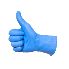 House Brand Premium Nitrile Infused Synthetic Vinyl (PVC) Blue Exam Gloves Box