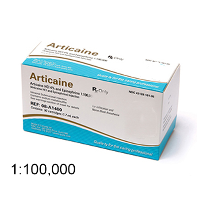 House Brand Articaine HCl 4% with Epinephrine 1:1