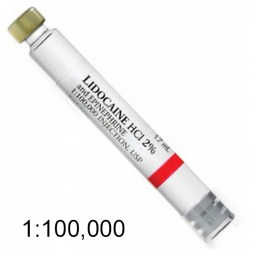 House Brand Lidocaine HCL 2% with Epinephrine 1:100,000 Local Anesthetic,  Box