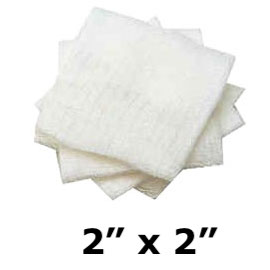 "House Brand 2"" x 2"" 8-Ply Non-Sterile Cotton Fill"