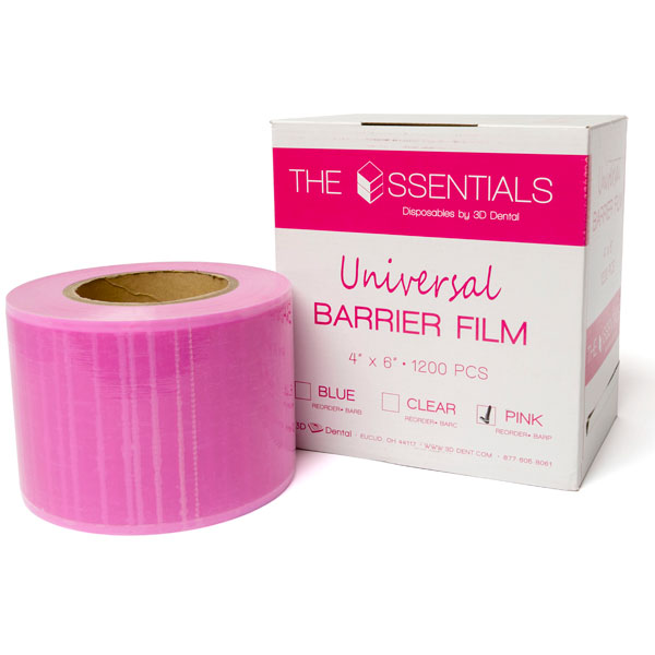 "House Brand 4"" x 6"" Barrier Film, Pink, Roll of 1"