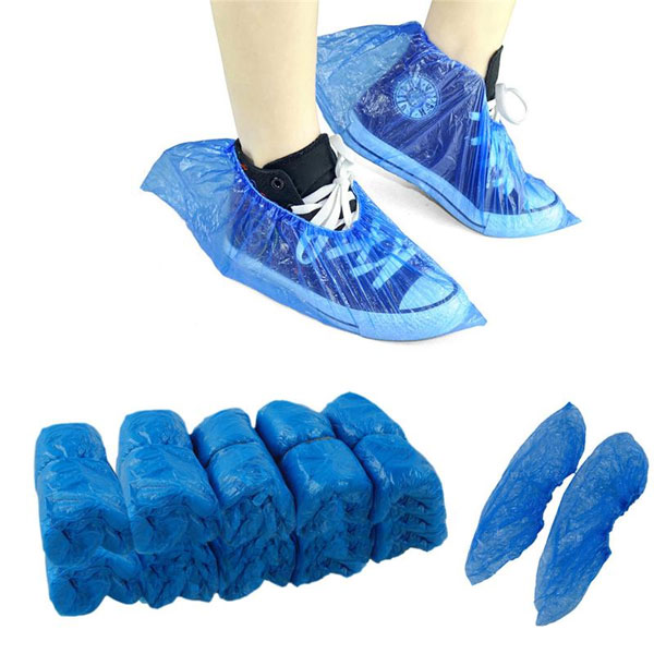 House Brand Shoe Covers, Blue 200 Pairs/Bx. Water