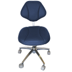 House Brand Dark Blue Microfiber Stool Chair, 360-degree fully rotated