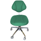 House Brand Green Microfiber Stool Chair, 360-degree fully rotated ergonomic