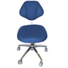 House Brand Sky Blue Microfiber Stool Chair, 360-degree fully rotated ergonomic