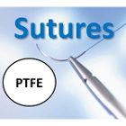 "House Brand 3/0, 75 cm (29.5"") PTFE Surgical Suture with 3/8 circle Cutting"