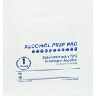 House Brand Alcohol Prep Pads, 2 Ply, Non-woven, 200/Bx. Individual pouches