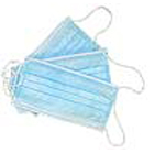 House Brand Blue Fluid Resistant Ear-Loop 3 ply face mask with 98% filtration