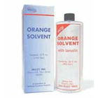 House Brand Orange Solvent, 32 oz. Bottle. With lanolin. To remove zinc