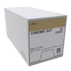"House Brand 4/0, 27"" Chromic Gut Suture with C-6 Reverse-cutting 19mm Needle"