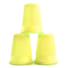 House Brand Yellow 5 oz. Plastic Cups, Case of 1000