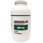 House Brand Amoxicillin 500 mg, Bottle of 500 Capsules