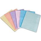 "House Brand Patient Bibs LAVENDER 13"" x 18"" 2-Ply Paper/1-Ply Poly 500/Cs"