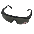 House Brand Polycarbonate UV400 Safety Glasses, Black, 1/Pk. Adjustable leg