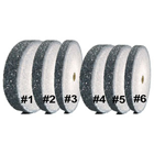 House Brand Heatless Grinding Wheels - Gray #6, 22 x 2.4 mm, 50/Box. Non-contaminating, use
