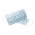 House Brand Ear-loop Face Mask, Single Box, 50/Bx. Pleated, Blue. Single Box