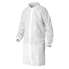 House Brand Lab Coats with Adjustable Waist, White MEDIUM, 10/Bag. Knee length