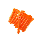 House Brand Ligature Ties Orange 1040/Bag