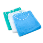 House Brand Blue Disposable Isolation Gowns 50/case, Regular/Large, full