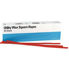House Brand Utility Wax Square Ropes White, box of 55 ropes