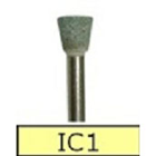 House Brand IC1 FG Green Mounted Stone, 12/Bx. Inverted cone finishing stones
