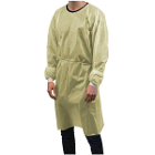 House Brand Isolation Gowns, Yellow, 10/Pk, Fluid-resistant protective gowns