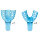 House Brand #4 Medium Lower Full-Arch Perforated Blue Disposable Impression