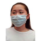House Brand Blue fluid resistant anti-fog ear-loop face mask with 99% BFE