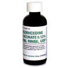 House Brand 0.12% Chlorhexidine Gluconate Oral Rinse, 4 oz. Bottle. Case of 48