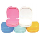"House Brand Retainer Box, Assorted Colors 3.25""W x 3.3""L x 1.75""H, Pack of 12"