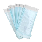 "House Brand 3.50"" x 10"" Self-Sealing Paper/Blue Film Sterilization Pouch"