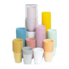 House Brand Dusty Rose 5 oz. Plastic Cups, Case o