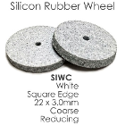 Meta Silicone Rubber Polishers - Coarse White Reducing Wheel (22mm x 3mm)