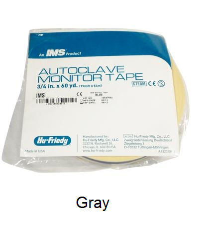 IMS Autoclave Monitor Tape - GRAY Color Coding 60