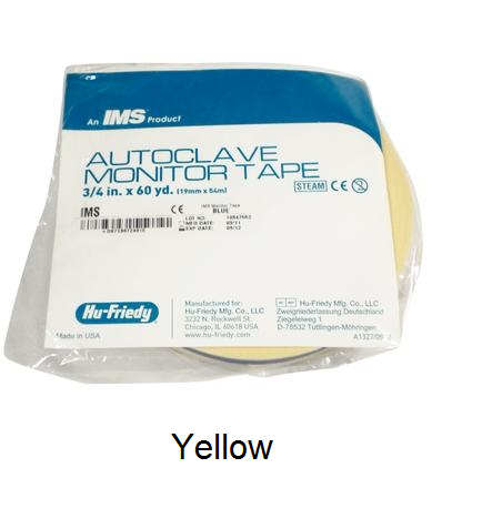IMS Autoclave Monitor Tape - YELLOW Color Coding