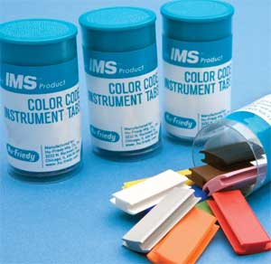 IMS Color Code Cassette Tabs, GREEN Color, Silico